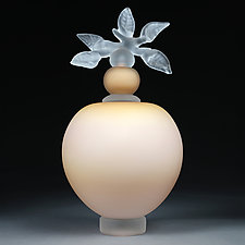 Novi Zivot (New Life) Satin Blush Large Sphere by Eric Bladholm (Art Glass Vessel)