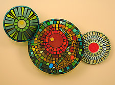 Amazon Mandala by Janine Sopp and Barbara Galazzo (Art Glass & Ceramic Wall Sculpture)