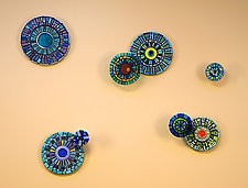 Mosaic Ocean by Janine Sopp and Barbara Galazzo (Art Glass & Ceramic Wall Sculpture)