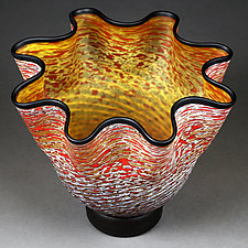 Zymova Vyshnya (Winter Cherries) Topaz by Eric Bladholm (Art Glass Vessel)