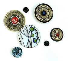 Uptown Chic by Janine Sopp and Barbara Galazzo (Art Glass & Ceramic Wall Sculpture)