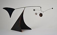 Black Copper Tabletop Stabile by Jay Jones (Metal Sculpture)
