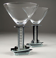 Jazz Martini II by George Ponzini (Art Glass Goblets)