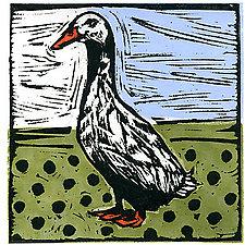Vintage Duck by Lisa Kesler (Linocut Print)