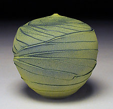 Green Topography by Nicholas Bernard (Ceramic Vessel)