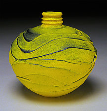 Yellow Wave by Nicholas Bernard (Ceramic Vessel)
