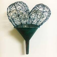 Copper Funnel of Love by Barbara Gilhooly (Metal Sculpture)
