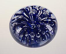 Blue Anemone Paperweight by Robert Dane (Art Glass Paperweight)