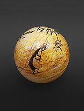 Kokopelli Petroglyph Paperweight by Richard Satava (Art Glass Paperweight)