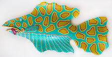 Yellow-Spotted Twister by Byron Williamson (Ceramic Wall Sculpture)