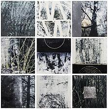 Tree Tiles by Graceann Warn (Mixed-Media Wall Art)