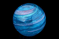 Oceans Orb by Benjamin Silver (Art Glass Paperweight)