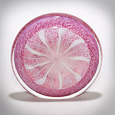 Cane Disk Paperweight by Gina Lunn (Art Glass Paperweight)