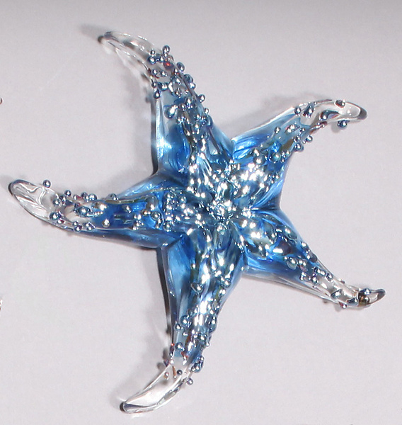 Baby Blue Starfish Paperweight