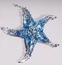 Baby Blue Starfish Paperweight by Gina Lunn (Art Glass Paperweight)