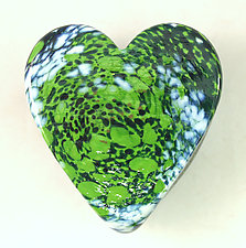 Meadow Heart Paperweight by Ken Hanson and Ingrid Hanson (Art Glass Paperweight)