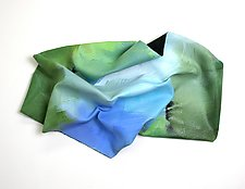 Blue and Green by Karen  Hale (Painted Wall Sculpture)