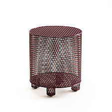 Punch in Plum by Damian Velasquez (Metal Stool)