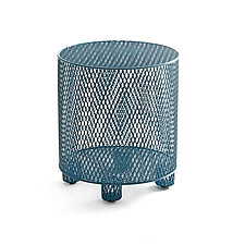 Punch in Blue by Damian Velasquez (Metal Stool)