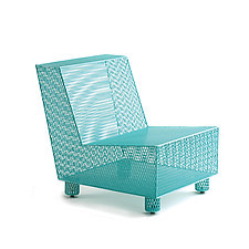Chair No. 35 in Turquoise by Damian Velasquez (Metal Chair)
