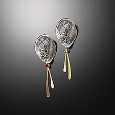 Night Story Earrings by Aleksandra Vali (Gold, Silver & Stone Earrings)