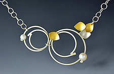 Summer Solstice Necklace by Judith Neugebauer (Gold, Silver & Pearl Necklace)