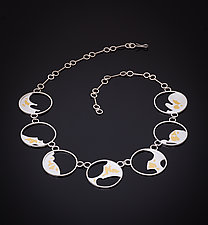 Ocean Dreams Necklace by Marcia Meyers (Gold & Silver Necklace)