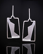 Silver Dancer Earrings by Marcia Meyers (Silver Earrings)