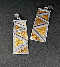 Native Dancer Earrings by Marcia Meyers (Gold & Silver Earrings)