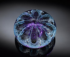 Sea Urchin Paperweight Purple by Jacob Pfeifer (Art Glass Paperweight)