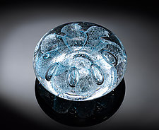 Sea Urchin Paperweight Ocean Blue by Jacob Pfeifer (Art Glass Paperweight)