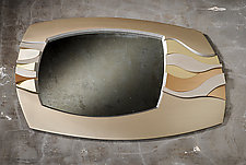 Wendy's Wave Mirror by Brent Skidmore (Wood Mirror)