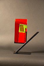 Mini Home Red I by Vicky Kokolski and Meg Branzetti (Art Glass Sculpture)
