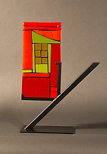 Mini Home Red II by Vicky Kokolski and Meg Branzetti (Art Glass Sculpture)