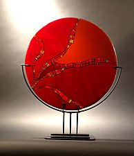 Many Paths Your Choice by Vicky Kokolski and Meg Branzetti (Art Glass Sculpture)