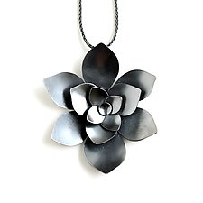 Aeonium Pendant by Katie Carder (Silver Necklace)