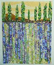 Lavender Honey by Linda Beach (Fiber Wall Art)