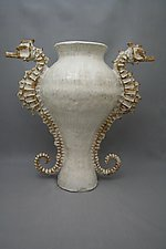 Seahorse Urn by Shayne Greco (Ceramic Vessel)