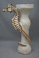 Seahorse Candlestick by Shayne Greco (Ceramic Candleholder)