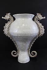 Giant Seahorse Urn by Shayne Greco (Ceramic Vase)