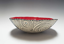 Bold Quad Optix Bio Bowl by Vaughan Nelson (Ceramic Bowl)