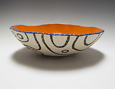 Bold Blackline Bio Bowl by Vaughan Nelson (Ceramic Bowl)