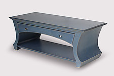 Table No.1 in Slate Blue Stain by Vincent Leman (Wood Coffee Table)