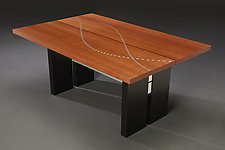 Table of Sines and Cosines by Carol Jackson (Wood & Aluminum Coffee Table)