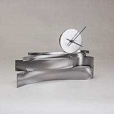 Small Strata Clock by Ken Girardini and Julie Girardini (Metal Clock)