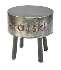 Personalized Metal Side Table by Ben Gatski and Kate Gatski (Metal Side Table)