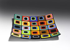 Licorice Allsorts Platter by Helen Rudy  (Art Glass Platter)