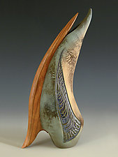 Feathered Friend by Jan Jacque (Ceramic Sculpture)
