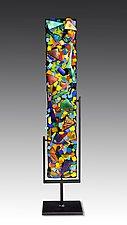 Swizzle Totem by Helen Rudy  (Art Glass Sculpture)