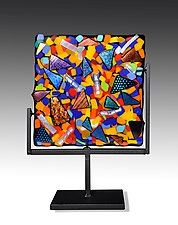 Swizzle Panel by Helen Rudy  (Art Glass Sculpture)